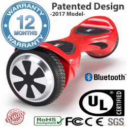 "Black Eagle™ RED Smart Balance Wheels Bluetooth -6.5"" 700 watts motor -12 months warranty- x16.5"